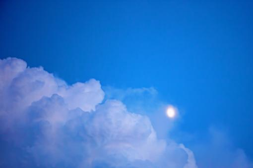 Sky with moon - Free Stock Photo