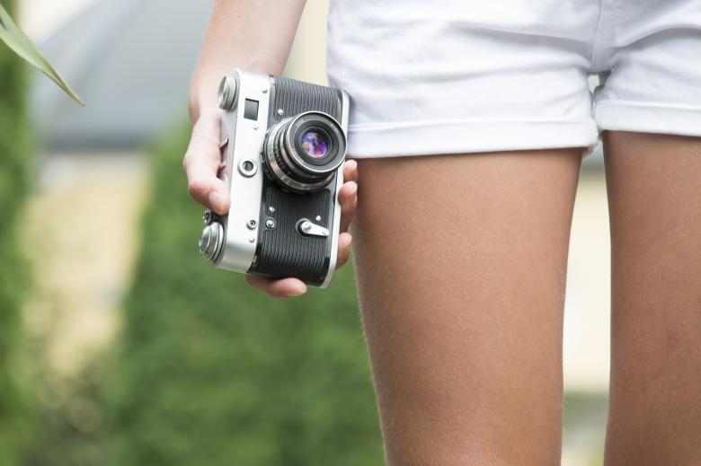 Free Stock Photo of Girl with retro camera Created by Mudretsov Olexandr