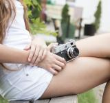 Free Photo - Girl with retro camera