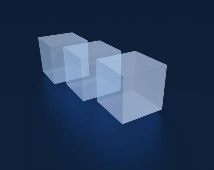 3D rendered cubes - Free Stock Photo