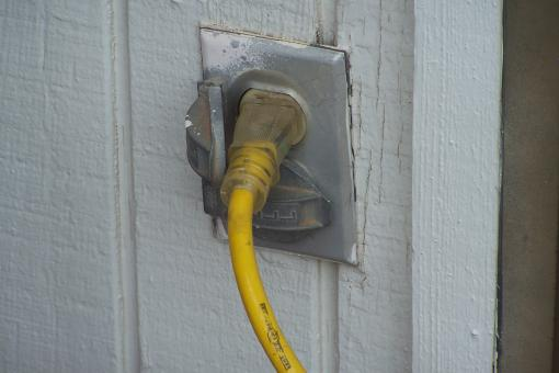 Outdoor Outlet with Cord - Free Stock Photo