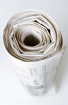 Rolled up Newspaper - Free Stock Photo
