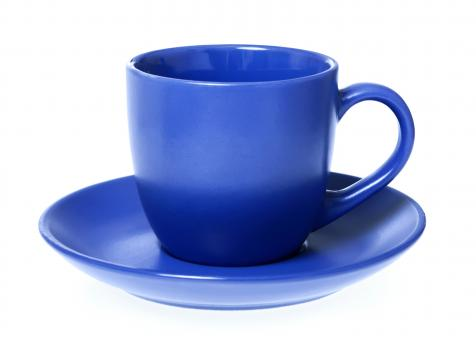 Blue cup - Free Stock Photo