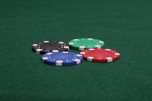 Four Poker Chips - Free Stock Photo