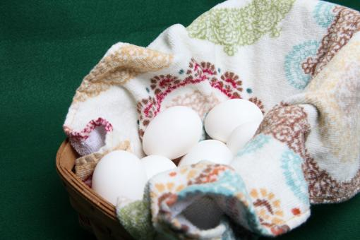 Eggs in a basket - Free Stock Photo