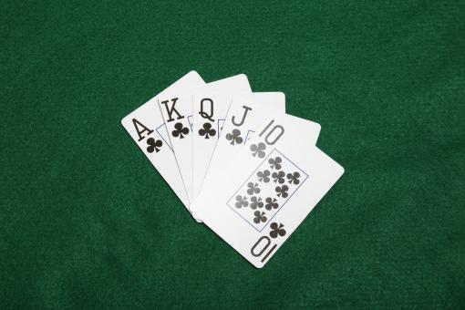 Poker hand -Straight - Free Stock Photo