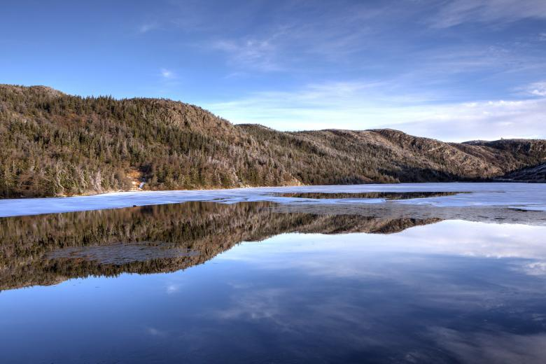 Free Stock Photo of Winter lake reflection Created by Geoffrey Whiteway