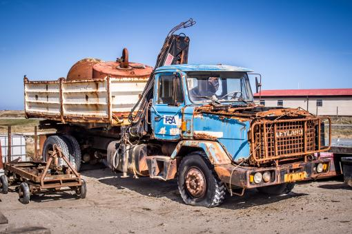 Old rustic truck in ghosttown - Free Stock Photo