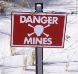 Free Photo - Danger - Land Mine sign in the Falklands