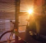 Free Photo - Bicycle and the sun setting
