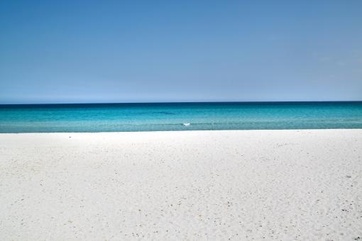 Sardinia sandy beach and blue sea - Free Stock Photo