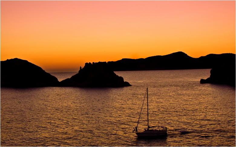 Free Stock Photo of Sunset over sea in mallorca Created by Mili Vigerova