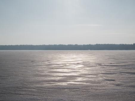 River covered with a thick layer of ice - Free Stock Photo