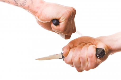 Arms with knives - Free Stock Photo