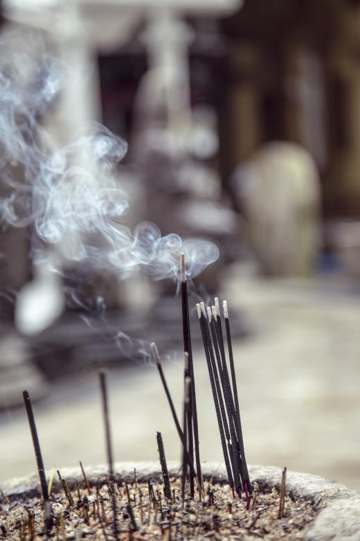 Free Stock Photo of incense sticks bourning Created by Mili Vigerova