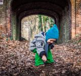 Free Photo - Little boy and autumn leaves
