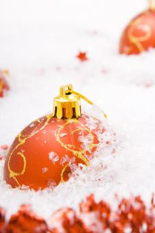 Red christmas balls - Free Stock Photo