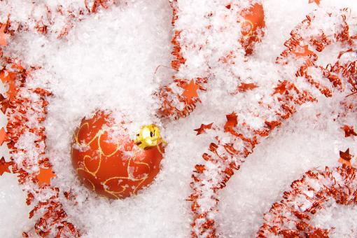 Red christmas ball ornament - Free Stock Photo