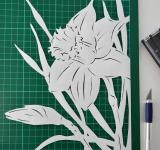 Free Photo - Narcissus paper cutting