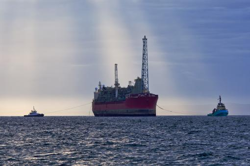 Oil and gas FPSO at sunset - Free Stock Photo