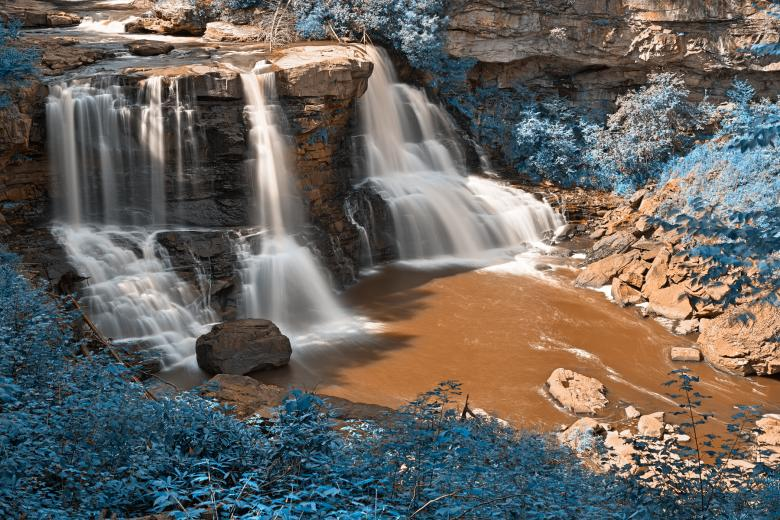 Free Stock Photo of Blackwater Falls - Winter Blue HDR Created by Nicolas Raymond