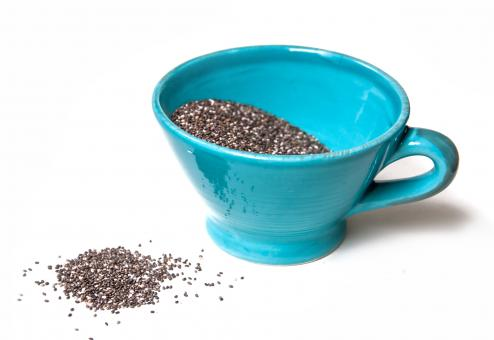 Chia seeds isolated on white - Free Stock Photo