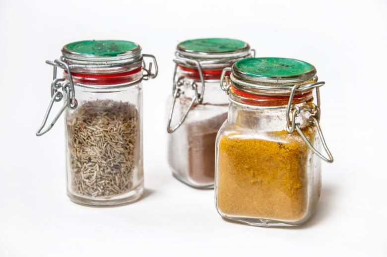 Free Stock Photo of Spices and herbs in jars Created by Merelize