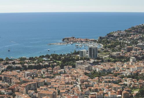 Aerial view of Budva - Free Stock Photo