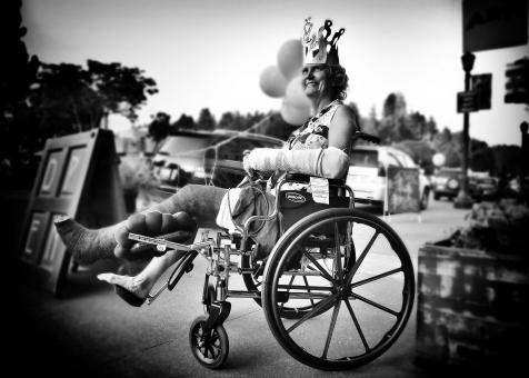 Woman in wheelchair - Free Stock Photo