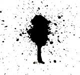 Free Photo - Black ink splatter