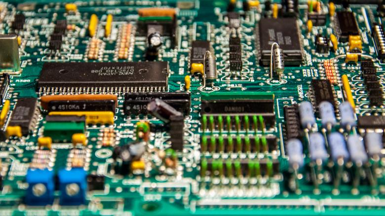 Free Stock Photo of Closeup of electronic circuit board Created by Merelize