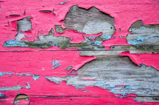 Weathered and peeling paint on wood - Free Stock Photo