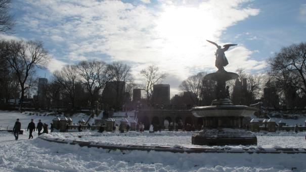 Bethesda Fountain in Winter - Free Stock Photo