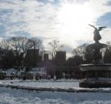 Free Photo - Bethesda Fountain in Winter