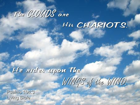 Clouds are His Chariots - Free Stock Photo