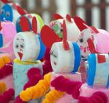 Free Photo - Recycled Bottle Tops Craft Dolls