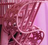 Free Photo - Pink Wicker Chair