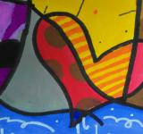 Free Photo - Abstract Heart Painting