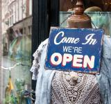 Free Photo - Open sign shop window