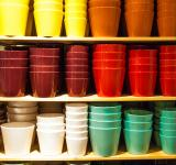 Free Photo - Colorful pots in shop