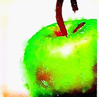 Apple in abstract - Free Stock Photo