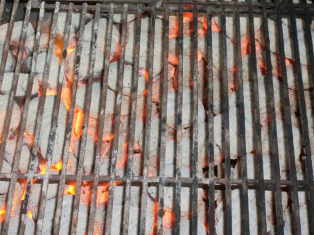 Hot coals in grill - Free Stock Photo