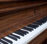 Free Photo - Closeup of antique piano keys