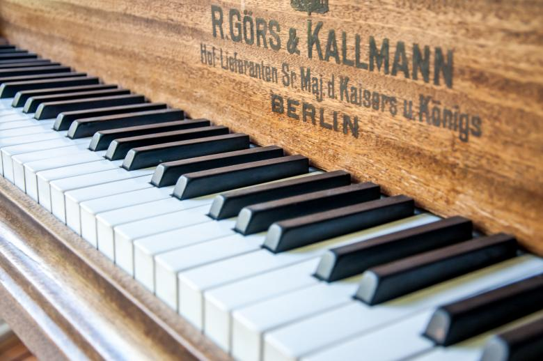 Free Stock Photo of Closeup of antique piano keys Created by Merelize