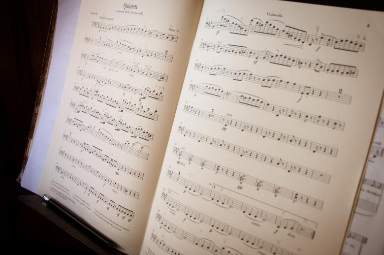 Free Stock Photo of Open music book and notes Created by Merelize