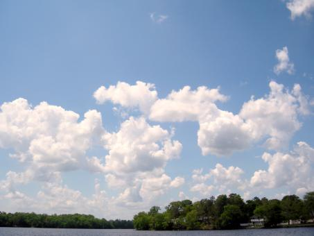 Blue Sky Wit White Clouds - Free Stock Photo