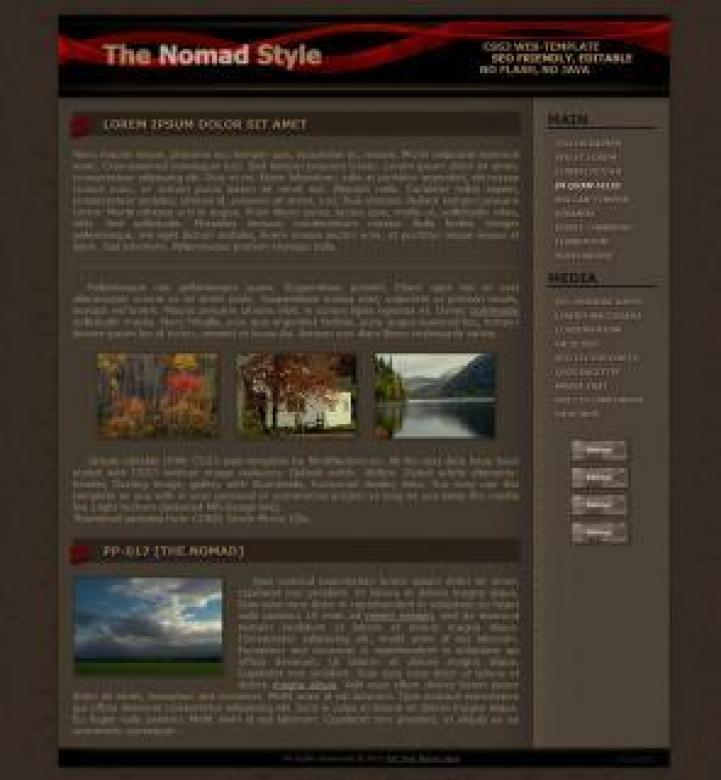 Free Stock Photo of The Nomad Web-Template Created by ModBlackmoon