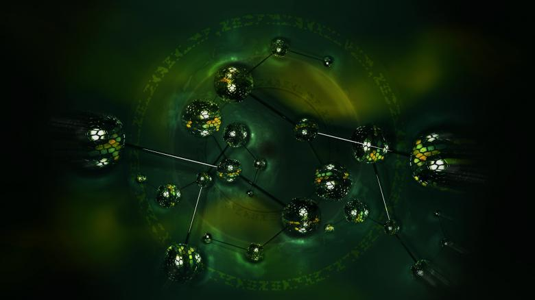 Free Stock Photo of Biodesk Molecules v2 Created by ModBlackmoon