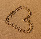 Free Photo - Heart drawn in the sand