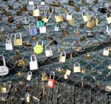 Free Photo - Love locks placed by tourists